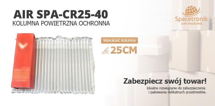 Spacetronik AIR SPA-CR20 - kolumna powietrzna ochronna do zabezpieczania i owijania delikatnych towarów